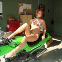 Lo on her bike. HOT!